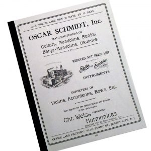 1921 oscar schmidt catalog cover