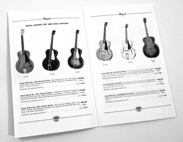 Guitar models regal Regal Musical