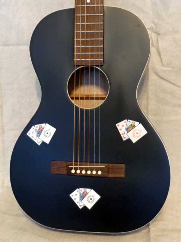 gambler guitar with decals